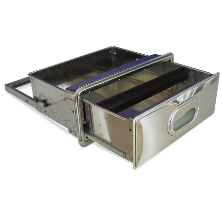 Drawer or hopper designed to be coupled by the user