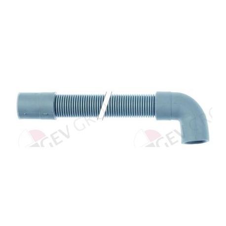 drain hose DN19 L 2000mm straight ø inside 21mm straight ext. ø 26mm elbow ø inside 21mm