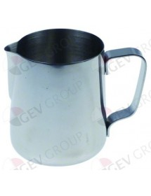 jarra de leche sin tapa capacidad 0,6l capacidad 20oz ø 90mm H 108mm acero inoxidable