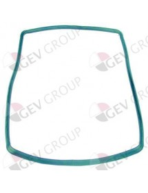 oven gasket W 330mm with 6 mounting clips L 550mm external size Smeg