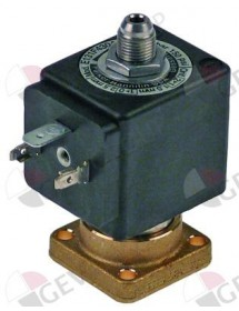 válvula magnética 3vías 230 VAC cuerpo cono exterior DN 1,2mm conector hembra DIN