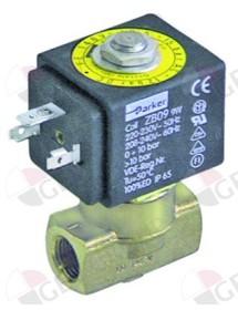 "válvula magnética 2vías 230 VAC empalme 1/4"" DN 3mm conector hembra DIN -20° a 130°C PARKER"