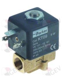 "solenoid valve 2-ways 230 VAC inlet ¼"" IT outlet ¼"" IT connection 1/4"" L 38,5mm Expobar"