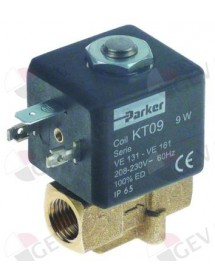"""válvula magnética 2vías 230 VAC entrada ¼"""" H salida ¼"""" H empalme 1/4"""" L 38,5mm Expobar"""