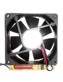 ventilador axial L 80mm An 80mm H 25mm 12V DC placa convertidora AC/DC