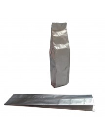Silver upright vacuum bag (50 units pack)