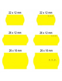 Fluor Yellow label rolls 22x12 26x12 26x16 (40 rolls)
