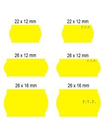 Rollos de etiquetas Flúor Amarillas 22x12 26x12 26x16 (40 rollos)
