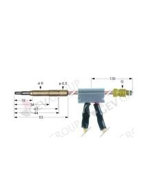 termopar con interruptor clavija ø6,0mm M9x1 L 1000mm cable 1000mm