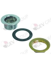 "drain fitting G 1½"" chrome-plated brass ø 69mm ext. thread ø 47mm H 32mm ArtSerf, Cookmax, Electrolux, Mareno"