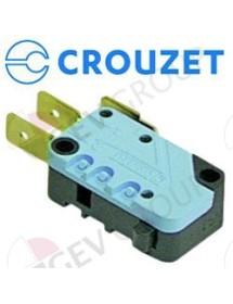 Microinterruptor 250V 16A 1CO empalme conector Faston 6,3mm L 28mm