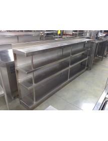 Mueble estanteria de 2'70x0'35x1'1 m 4 estantes