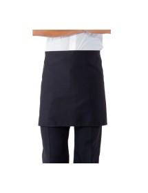 Delantal azul corto sin bolsillo