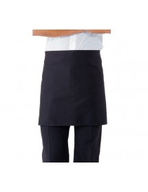 Short blue apron without pocket
