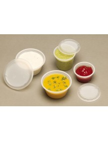 Sauce pot 1oz-29ml with lid (Pack 200 pcs)