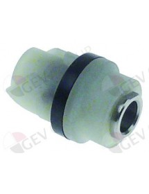 coupling L 30mm D1 ø 18mm D2 ø 21mm M6 teeth 2 Robot-Coupe