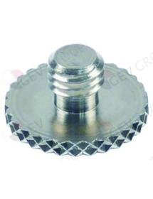 Thumb screw thread M8 thread L 5mm ø 20mm H 10mm SS Qty 1 pcs Univer-Bar