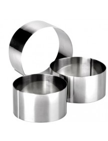 High steel round pastry rings and plate IBILI