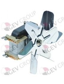 hot air fan 230 V 32 W 0,27 A 2 hole fixing 1800 rpm distance fan wheel - fixing 10 mm Rieber R2A150-AG01-09
