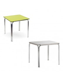 Table double aluminum tube 70x70 80x80