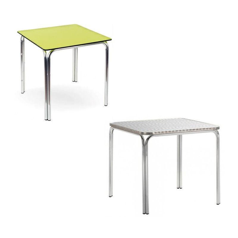Table double aluminum tube 70x70 80x80 chef global for Table 80x80