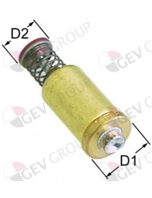 grupo magnético L 43,5mm D1 ø 15,3mm D2 ø 10,5mm apto para SIT M1