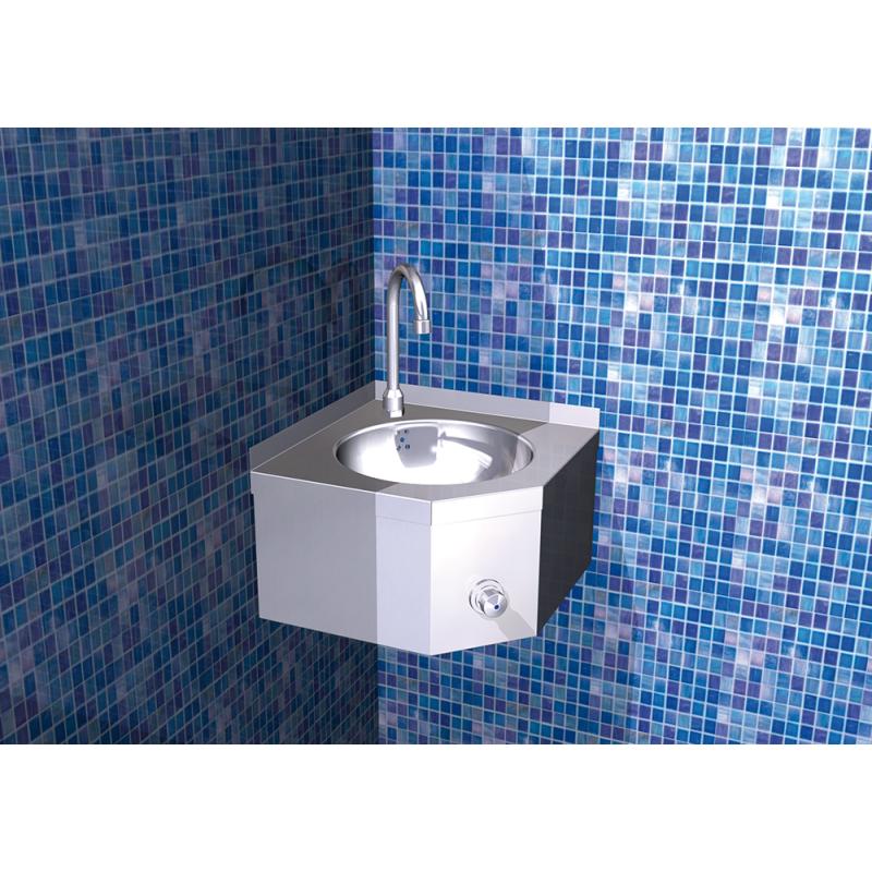 Lavamanos mural de esquina agua fr a y caliente serie xs for Lavamanos mural