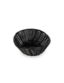 Round Black Poly Rattan Baskets