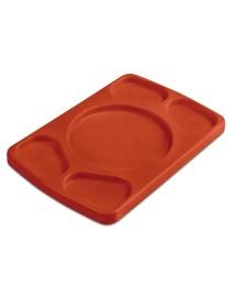 Tabla 4 salsas polietileno rectangular 30x20 cm
