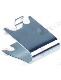 soporte de bandeja L1 31mm L2 28mm An 22mm H 18mm inox