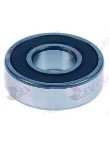 Deep-groove ball bearing shaft ø 40 mm ED ø 80 mm W 18 mm type DIN 6208-2RS with sealing discs