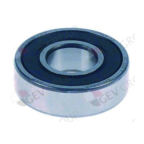 deep-groove ball bearing shaft ø 17 mm ED ø 40 mm W 12 mm type DIN 6203-2RS with sealing discs