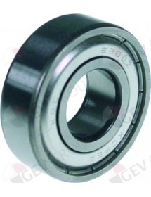 Deep-groove ball bearing type DIN 6205-2Z shaft ø 25 mm ED ø 52 mm W 15 mm