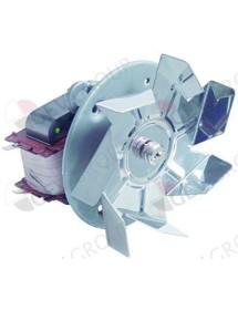 Hot air fan 220 V 55 W 50/60Hz L1 65 mm L2 15 mm L3 25 mm L4 87 mm fan wheel ø 150 mm FIME Smeg L25R7513