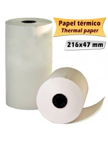 Rollo papel térmico FAX 216 mm x 3 m