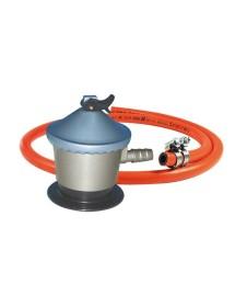 Kit Regulador Gas 29 mbar + Manguera con 2 abrazaderas