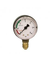 ISR pressure gauge 0-6 Bar Thread 1/4 1/4