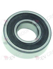 Deep-groove ball bearing type DIN 6205-2RS shaft ø 25mm ED ø 52mm W 15mm with sealing discs Braher 40502