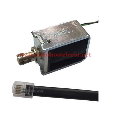 24 Volt Electromagnet drawer RJ11 connector