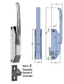 Cierre Vertical Nariz Epoxy Pequeña Sin llave 230mm