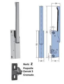 Cierre Vertical Nariz Epoxy Pequeña Sin llave 234mm