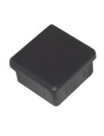 Conteras fijas 40x40mm plástico negro para tubo cuadrado