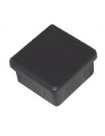 Fixed cover 40x40mm, black plastic square tube