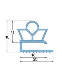 Burlete PVC Blando PT.1260 Gris 3 Metros