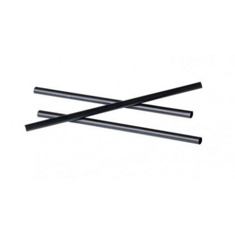 Black straight mini straws (500 pcs)