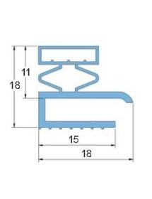 Burlete PVC Blando PT.1365 Gris 3 Metros