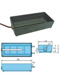 Bandeja evaporación aluminio Capacidad 1,9lts Resistencia 230W