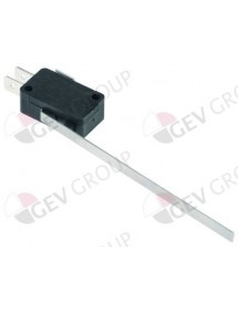 microswitch with lever 250V 16A 1CO connection male faston 6.3mm L 98mm