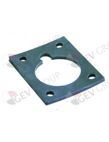 Gasket rubber L 88mm W 73mm thickness for heating element Elframo, Komel 00003430