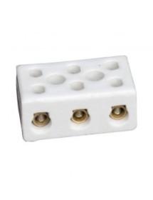 conector de porcelana 3 polos 2,5mm² dist. del agujero 14mm máx. 24A máx. 500V L 35mm